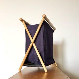Eaton - Vintage Navy Folding Frame Knitting Bag